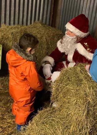 Christmas Festivities in the Lambing Barn