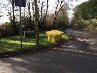 Upper Pencoed Lane Salt Bin