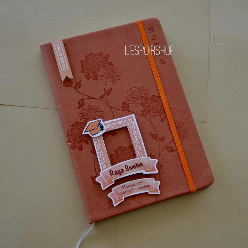 Simple Floral Grad book