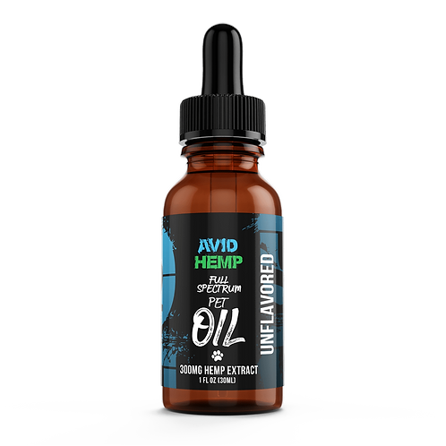 Avid 300 CBD Pet Oil (Unflavored)
