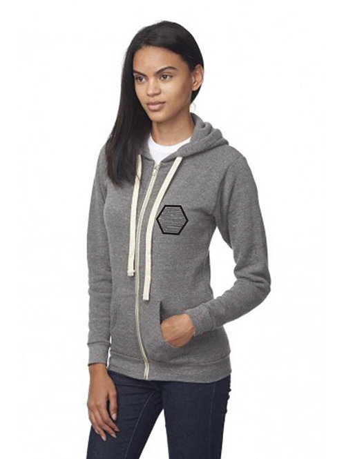 PRE ORDER Unisex Fleece Zip-up Hoody - LIGHT GREY, ships mid November