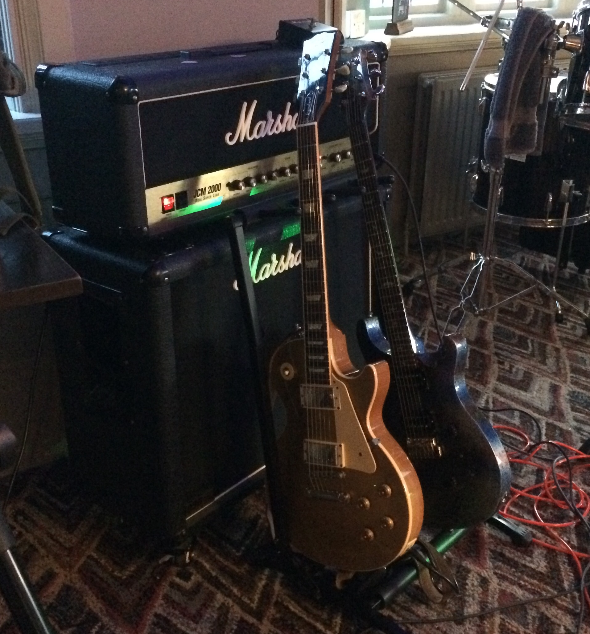 Guitars and amp - ready to go!!