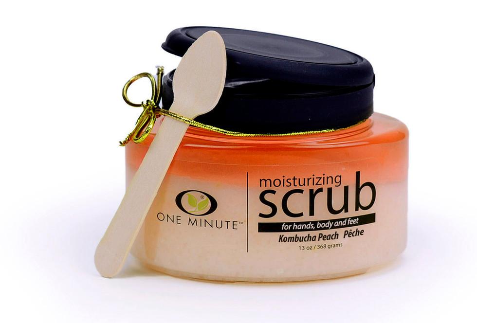 13oz Exfoliating Kombucha Peach Salt Scrub