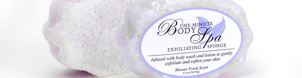 One Minute Exfoliating Shower Fresh Sponge