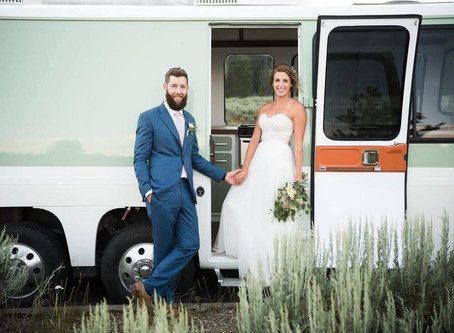 Wedding Day in an RV then off to your Honeymoon- Freedom and Adventure your way.