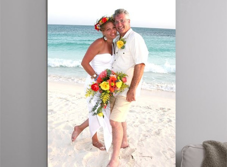 What to do with your Favorite Beach Wedding Photo?... Print on Canvas