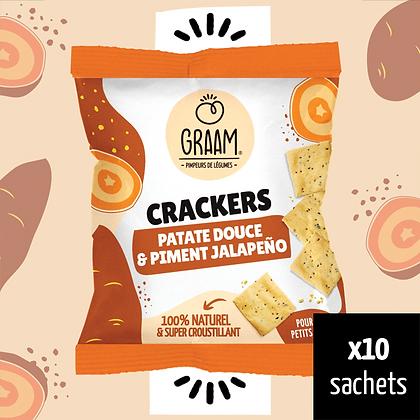 Crackers Patate douce & Piment jalapeño 10 x 30g