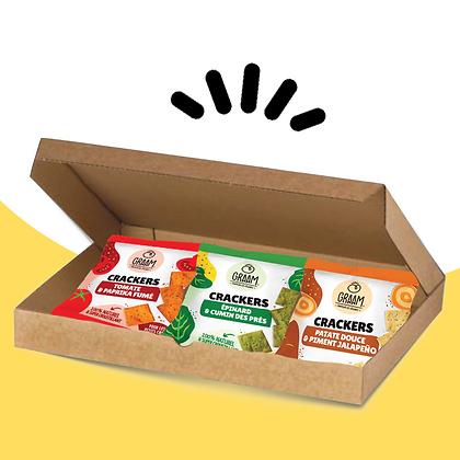 Box découverte crackers 3x30g