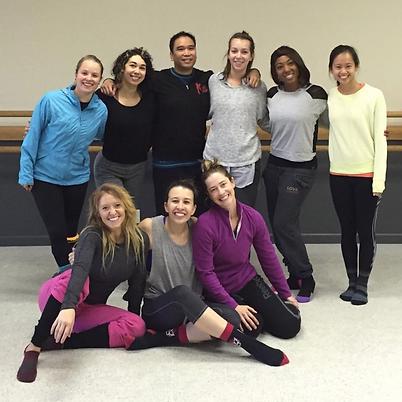 Dancers studio rehearsal