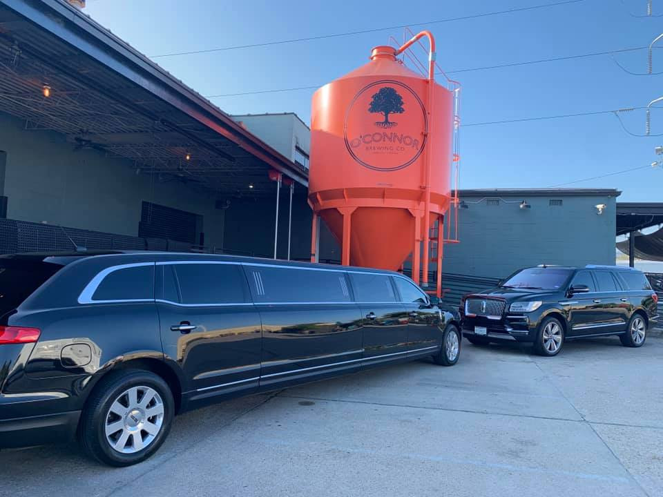 Our Lincoln MKT stretch limo and Lincoln Navigator at O'connor Brewing Co. during a bridal expo!