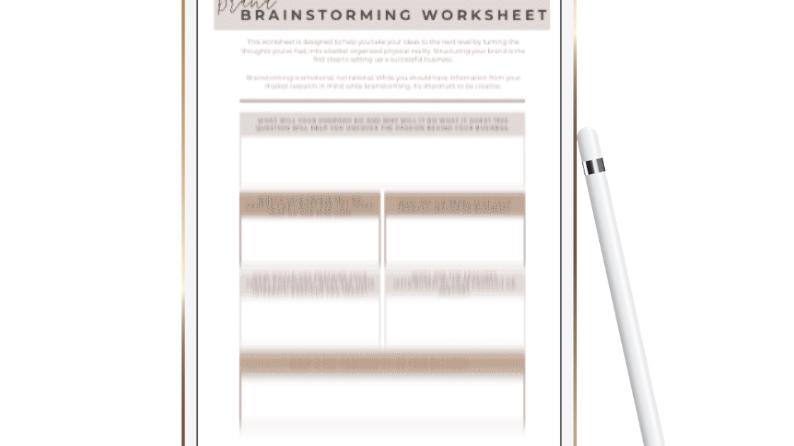 Brand Brainstorming Worksheet
