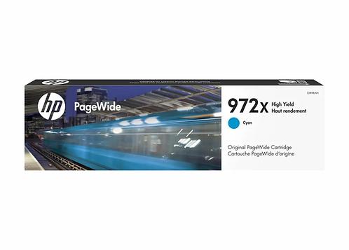 HP 972X - High Yield - cyan - original - PageWide - ink cartridge