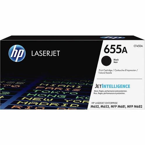HP 655A - black - original - LaserJet - toner cartridge