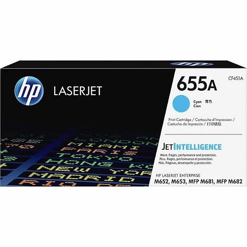 HP 655A - cyan - original - LaserJet - toner cartridge