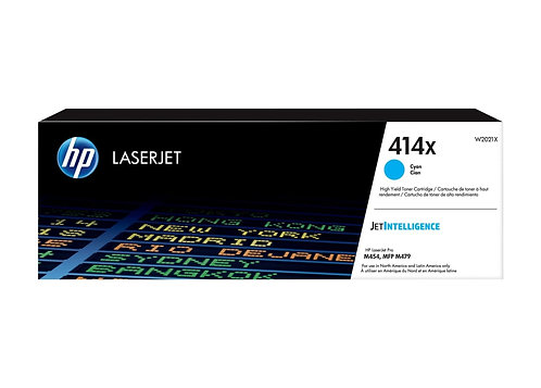 HP 414X - High Yield - cyan - original - LaserJet - toner cartridge