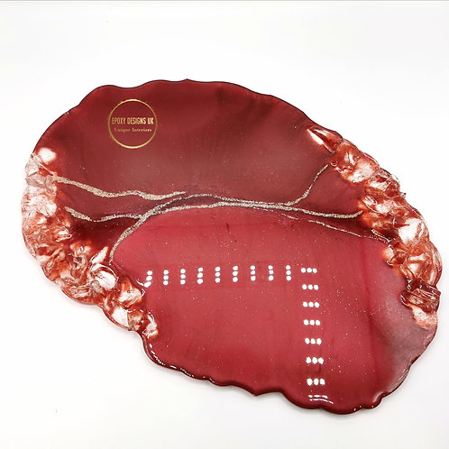 Resin geode tray / centrepiece