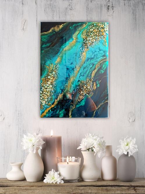 'Green Reef' wallart
