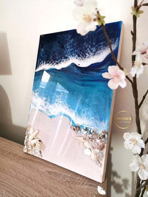 Beach wall art 30x42cm