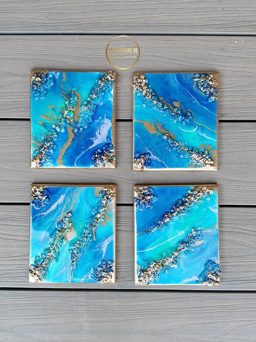 Mini Reef Inspired Wallart set of 4