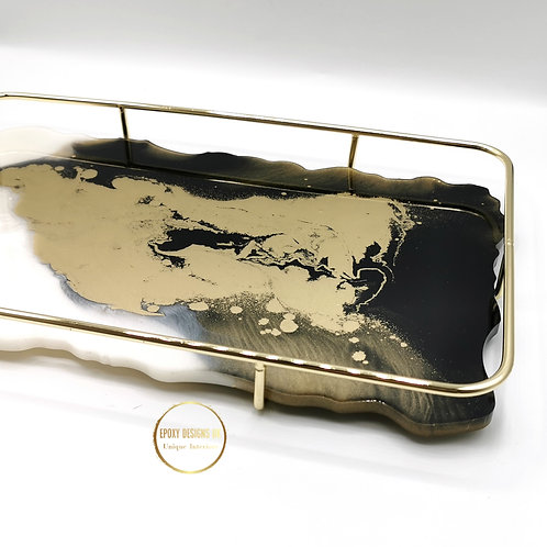 Resin Tray with Gold cradle large