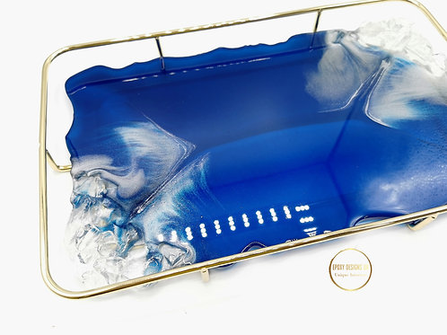 Resin Tray with Gold cradle