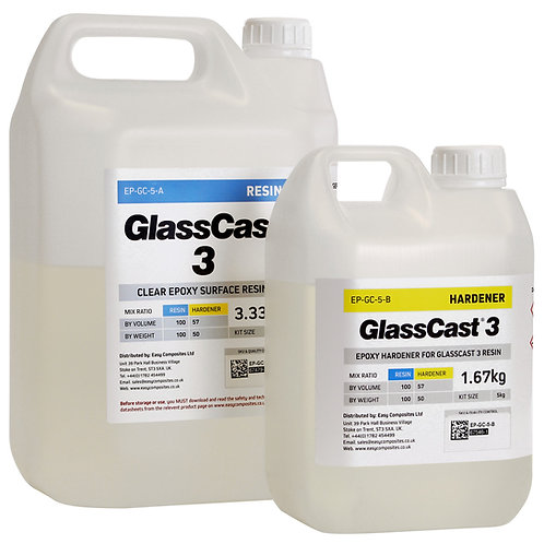 GlassCast 3 Clear Epoxy Coating Resin - 5kg Kit