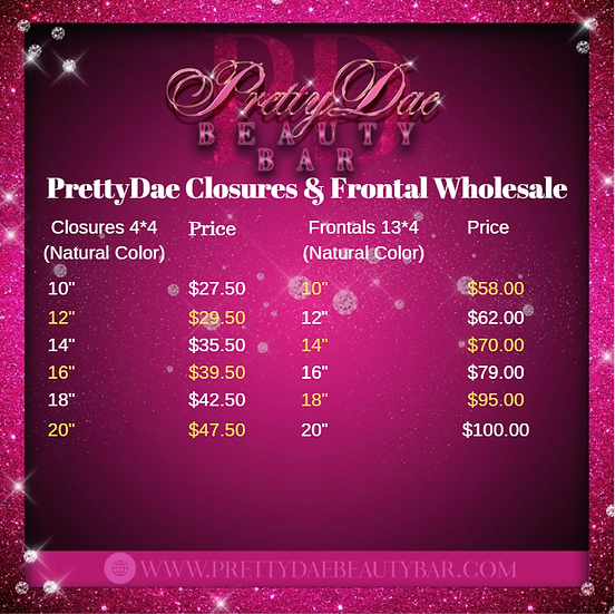 Wholesale Closures & Frontals
