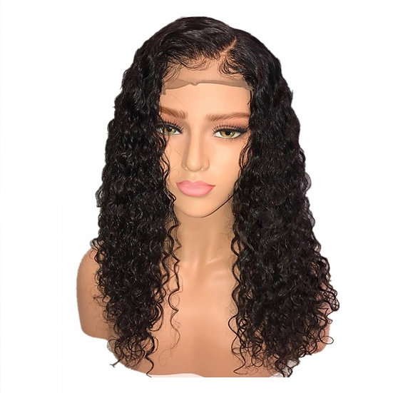 "10-14 Inch Pre-Plucked 13""x4"" Lace Front Water Wave Bob Wigs 150% Density"