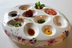 Aperitivo de ensalada del Cenador de las monjas