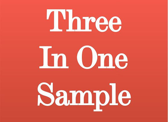 Three-in-One Sample