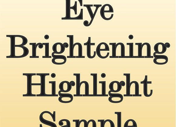 Eye Brightening Highlight Sample