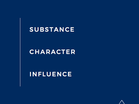 Substance, Character & Influence