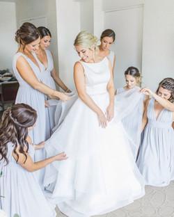 bridal hair, hairstyle, bridesmaid hair