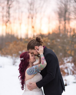 winter bride hairstyle