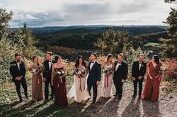 bridal party hair, wedding