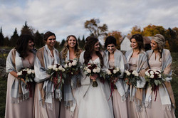 bride, bridesmaid hair