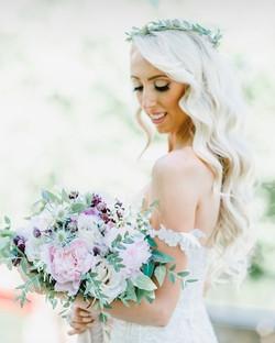 Bridal Hair, glamorous waves