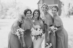 bride, bridesmaid hairstyles