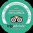 Excelencia Tripadvisor 2015 a 2020