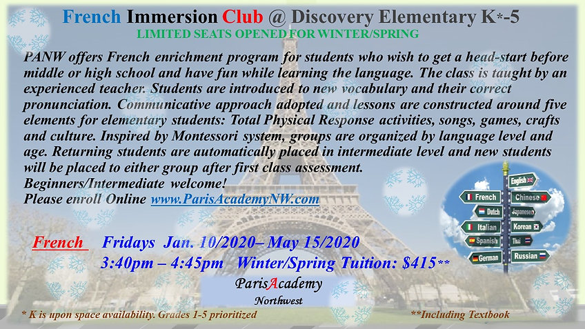 Discovery French WINTER-SPRING FRI PM-20