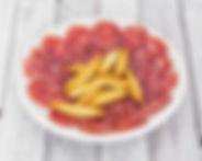 Salchichón Ibérico de bellota acompañado de picos - Caprinchos