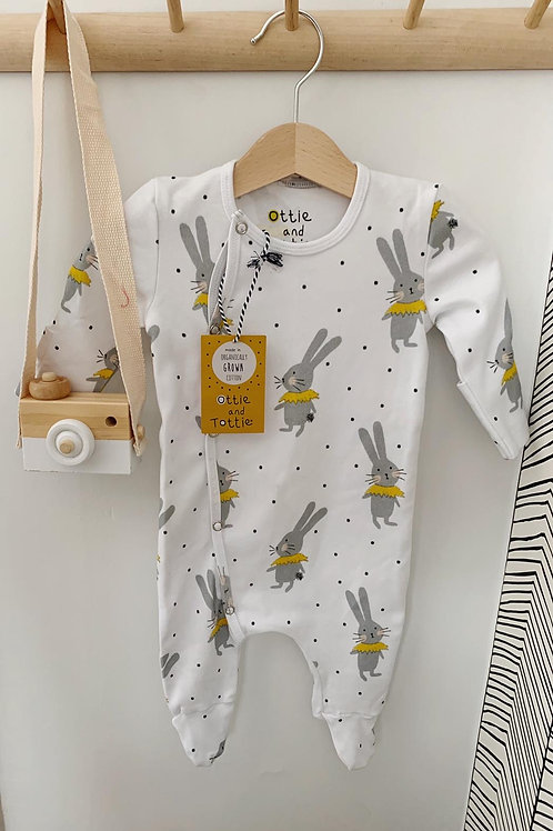 Tottie White Long Sleeve Sleepsuit