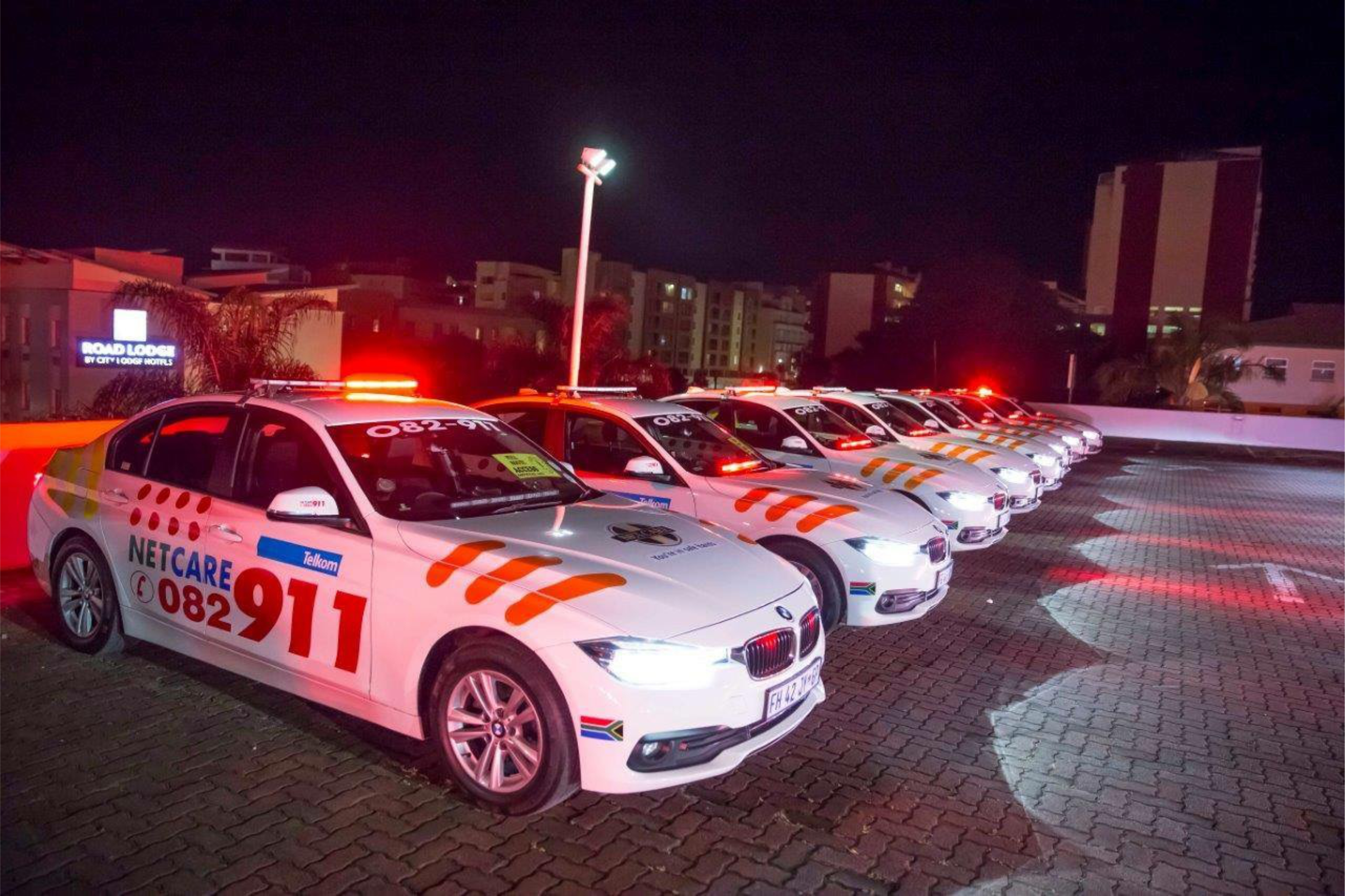 NETCARE FLEET AT NIGHT