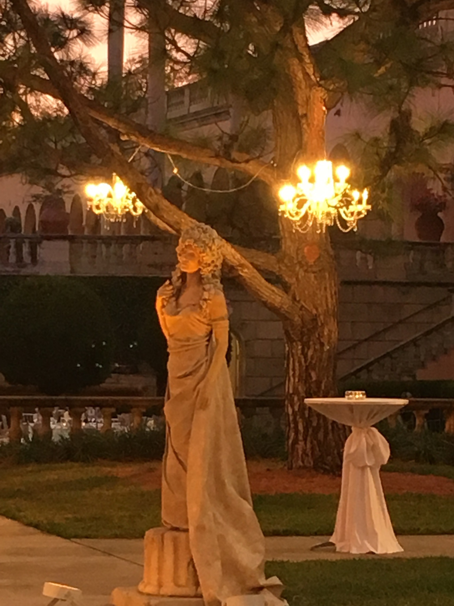 Living Statue at Night