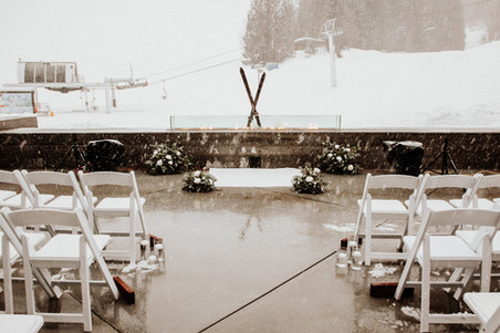 Winter Apre Ski Wedding Ceremony in Rossland BC planned by Wild Smile Events