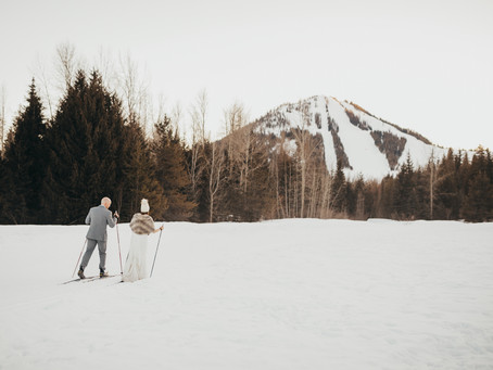 T+R - Wintery Apre Ski Wedding Day in Rossland, BC.