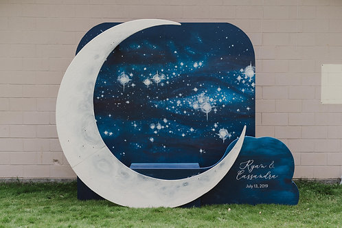 """""""Over The Moon"""" Photo Booth - Customizable"""