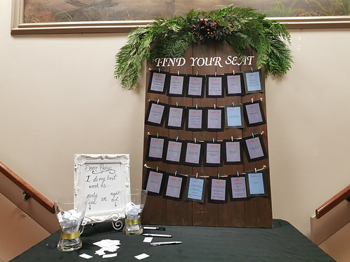 """""""Find Your Seat"""" Seating Chart Sign"""