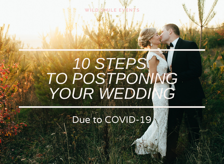 10 Steps to Postponing Your Wedding Due to COVID-19