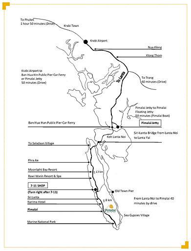Pimalai, Ko Lanta, Krabi, Thailand map